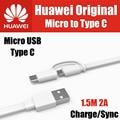 Ap55s tpe 1.5 m 2a original oficial 100% para huawei micro usb a-tipo c 3.1 cabo de interface dupla honor 8, v8, p9 plus, mate 9, nota 8