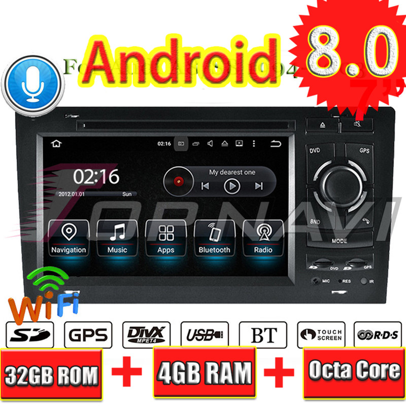 Topnavi Android 8.0 Car Stereo Video Player Per Audi A8 S8 (1994 1995 1996 1997 1998 1999 2000 2001 2002 2003 DVD di Navigazione GPS