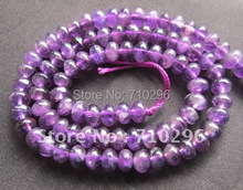 """Natural Amethys t Crystal Beads 4*6mm Roundel Amethyste Gem stone Jewelry Beads 15""""/strand"""