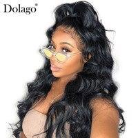 Плотность 180% полный кружево натуральные волосы Искусственные парики для женщин Бразильский средства ухода за кожей волна парик предварите