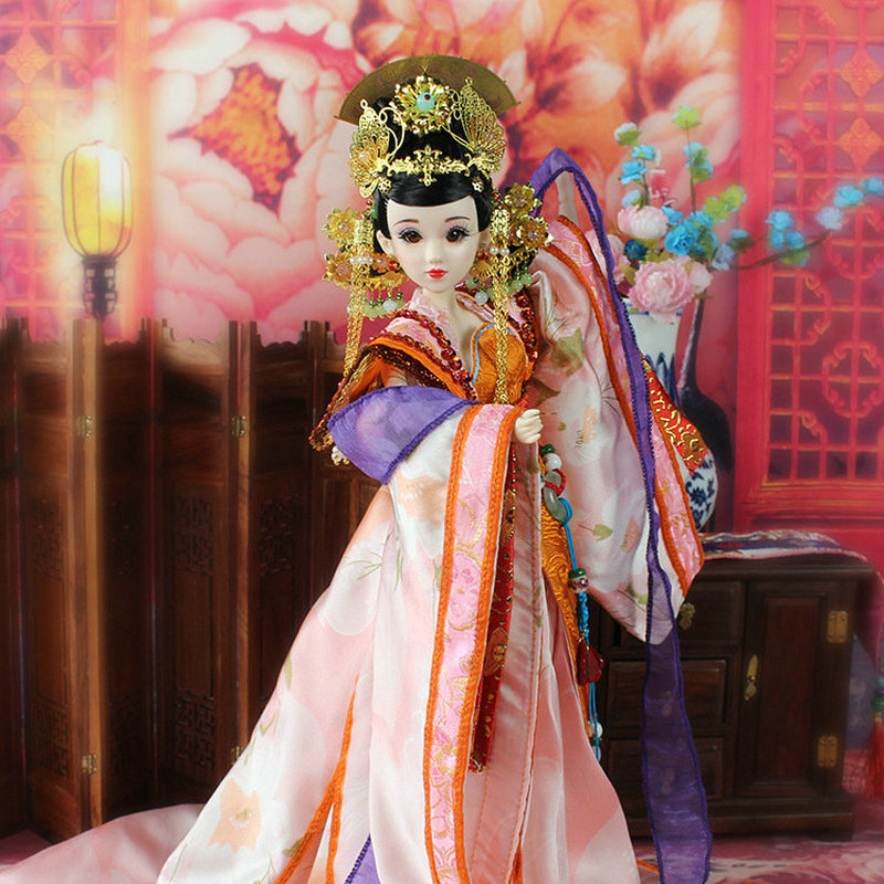 35CM Bjd Doll Empress Zhangsun Chinese Tang Dynasty Beauty Doll 12 Jointed Articulated doll Brinquedos Girl Toy Birthday Gift handmade ancient chinese dolls 1 6 bjd jointed doll empress zhao feiyan dolls girl toys birthday gifts