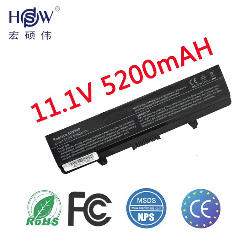 HSW 5200MAH Laptop Battery FOR Dell GW240 297 M911G RN873 RU586 XR693 for Dell Inspiron 1525 1526 1545 notebook battery x284g туалет для кошек savic s0263 с насадкой isis серый 42х31х12 5см