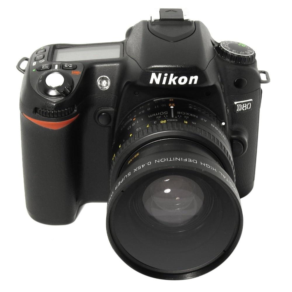 Lightdow 52MM 0.45x Wide Angle Lens + Macro Lens For Cannon  D5000 D5100 D3100 D7000 D3200 D80 D90 D3200 18-55MM Camera Lens
