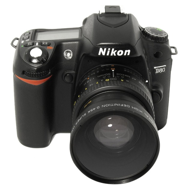 Lightdow 52 mét 0.45x wide angle lens + lens macro cho pháo D5000 D5100 D3100 D7000 D3200 D80 D90 D3200 18-55 MÉT Camera Lens