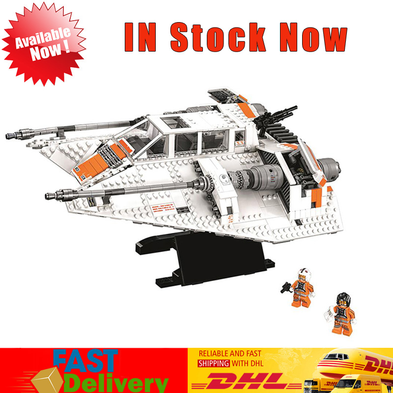 Lepin 05084 1736Pcs Star Wars Rebel Snowspeeder Model Building Bricks Blocks Educational Toys Compatible LegoINGlys 10129 new 1685pcs lepin 05036 1685pcs star series tie building fighter educational blocks bricks toys compatible with 75095 wars
