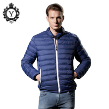 COUTUDI Autumn Winter Light Quilted Jacket Men Cotton Padded Jackets w/ Waterproof Zipper Mens Brand Clothing Warm Coat Parkas