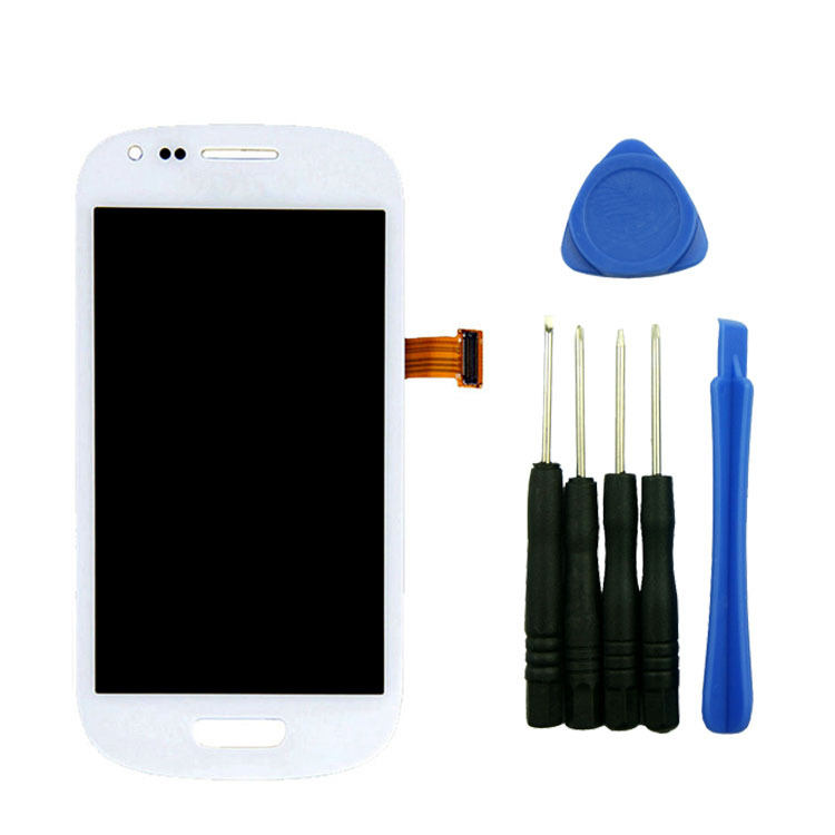 ФОТО White LCD Display Touch Screen Digitizer Assembly For Samsung Galaxy S 3 III MINI i8190 with tools