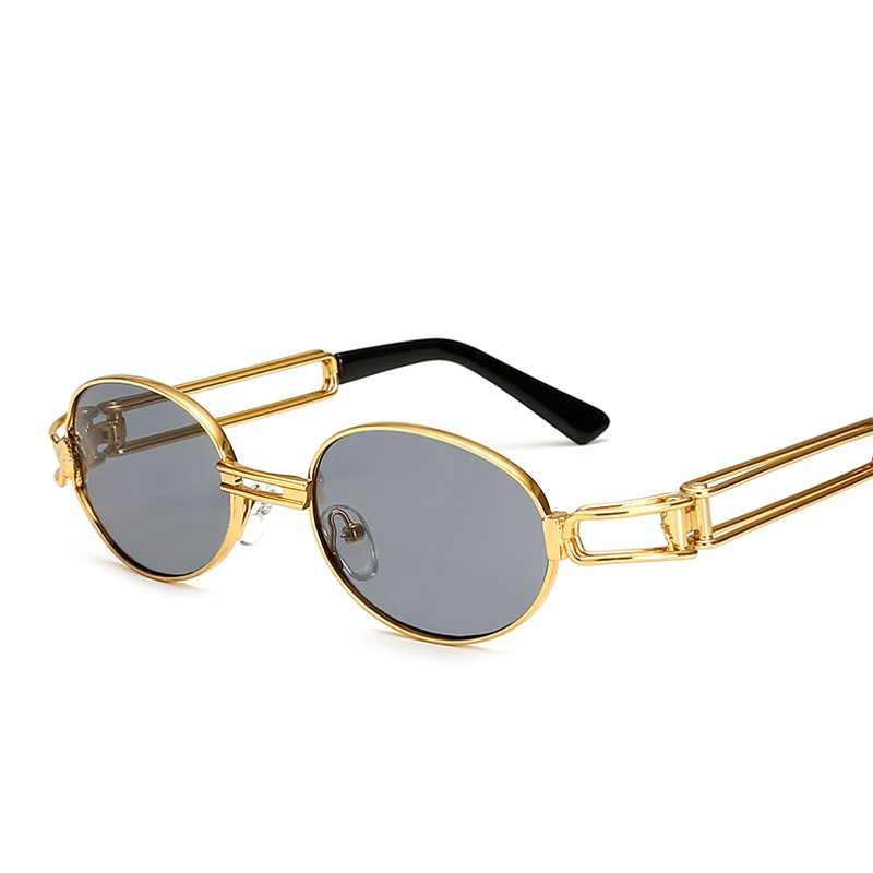 165056ab2c77 Ralferty Retro Small Round Sunglasses Men Male Vintage Steampunk Sunglass  Women Hip Hop Gold Glasses Eyewear