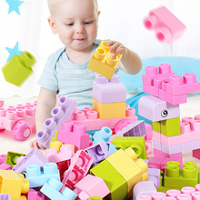 SLPF Large Particles Baby Soft Rubber Building Blocks Assembling Can Bite High Temperature Boiled Boys Girls Kids Toys Gift F03 large particles baby soft rubber building blocks can bite high temperature boiled baby children toys