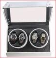 Qualidade Superior Do Motor Ultra-silencioso Para 4 relógios Enrolador Automático de Vidro Temperado Resistente a Riscos
