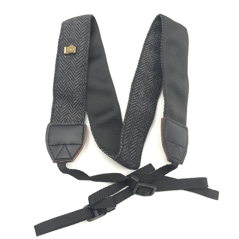 New Universal Adjustable Cotton Leather Camera Shoulder Neck Strap Belt For Sony/ Nikon SLR Cameras Strap Accessories Part