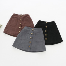 Cute Casual Short Velvet Baby Girl's Skirt