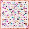 100% Шелковый Шарф Площади Бабочка Шейный Платок Печати Мини Площади Шелковый Шарф Женщины Животных 2017 Платки Малый Бандана Подарок для Леди
