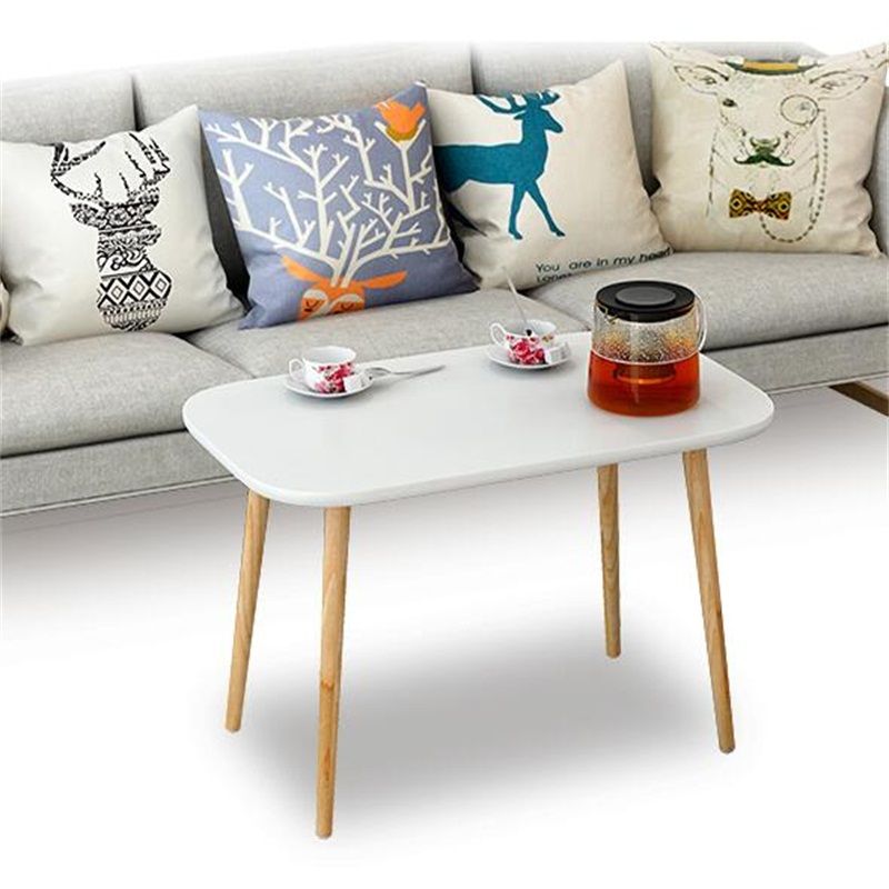 100*48*49CM Modern Wood Coffee Table Rectangle Sofa Side Table Living Room Corner Table continental european wood carved horn a few side corner marble square living room coffee table american teasideend
