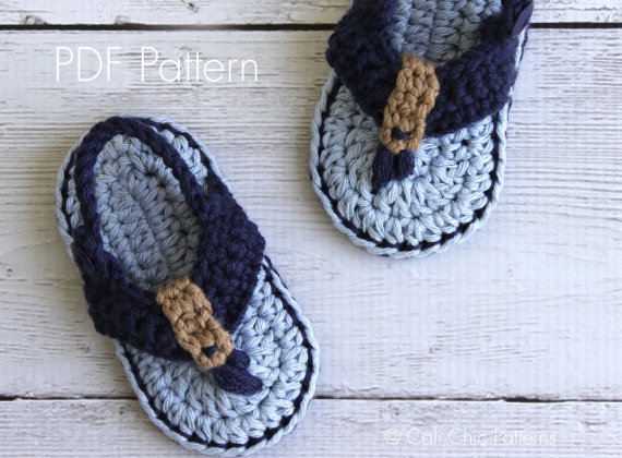 Baby Boy Shoescrochet Baby Sandals Crochet Baby Flip Flopsbaby