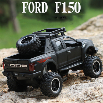 цена на KIDAMI Alloy 1:32 Ford Raptor F150 Truck Model Car Diecast Vehicle Off-road SUV Kids Toy Car For Boys Children Gifts Collection