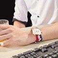 Reef Tiger/RT модные часы в британском стиле  водонепроницаемые нейлоновые мужские часы с ремешком  розовое золото  часы RGA162