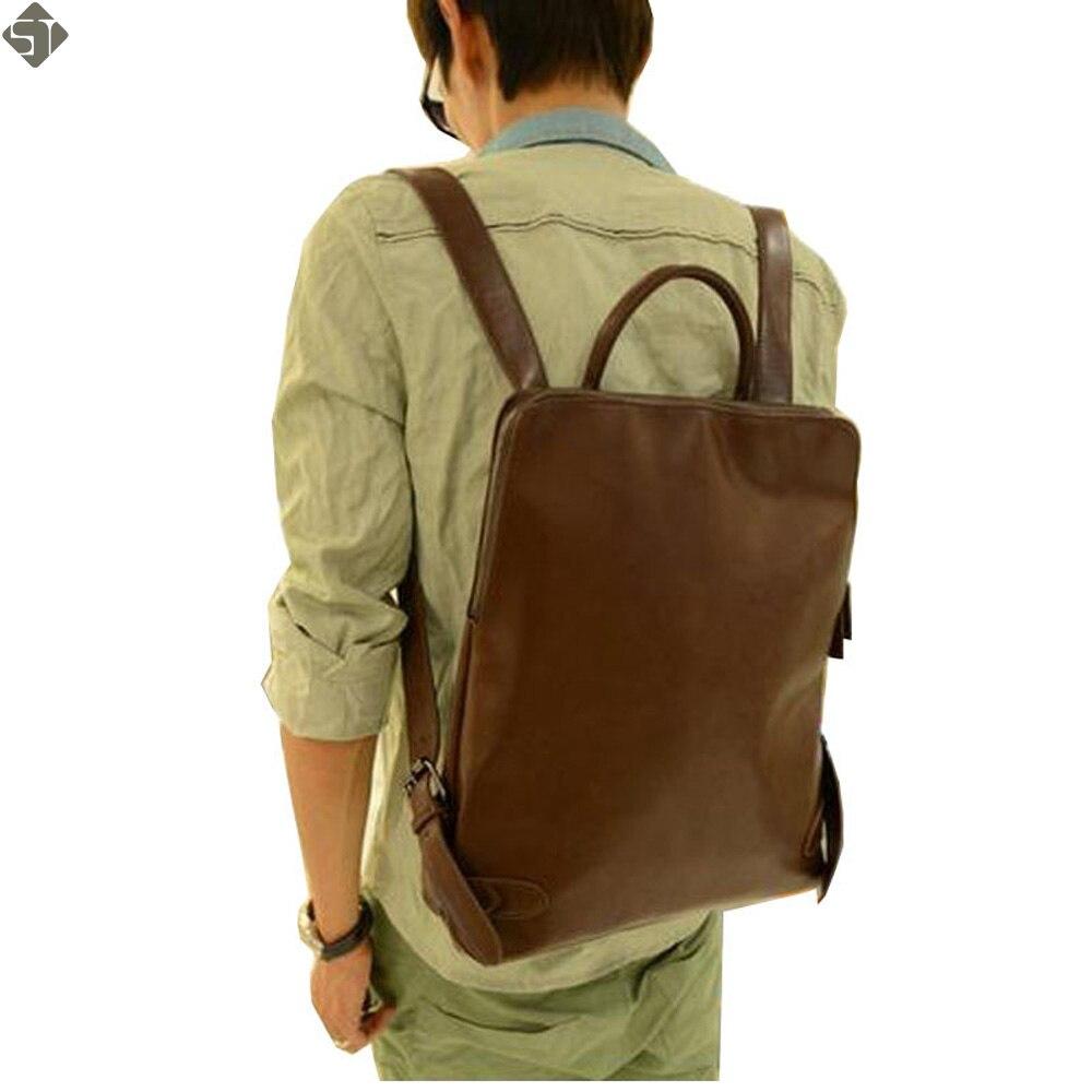 Promotion unisex women backpacks leather men's backpacks Multifunction backpack vintage men travel bags new 2017 School bag