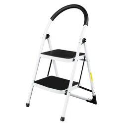 Famiglia Industriale Leggero Pieghevole 2-Step Sgabello Mini Stepladders con Maniglia Multiuso antiscivolo Scala di Ferro Per La Casa