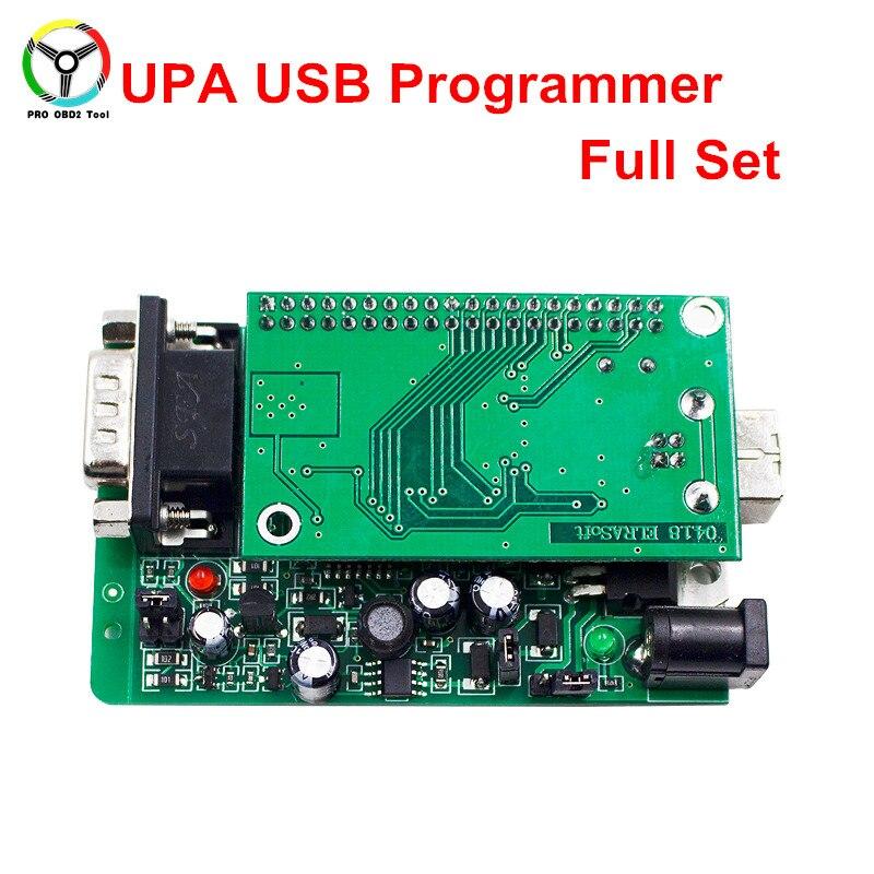 2018 Новый УПА USB программист V1.3 зеленый адаптер полный Наборы для ухода за кожей Авто ЭКЮ чип Тюнинг EEPROM V1.3 упа-usb OBD2 ЭБУ Адаптеры для сим-карт