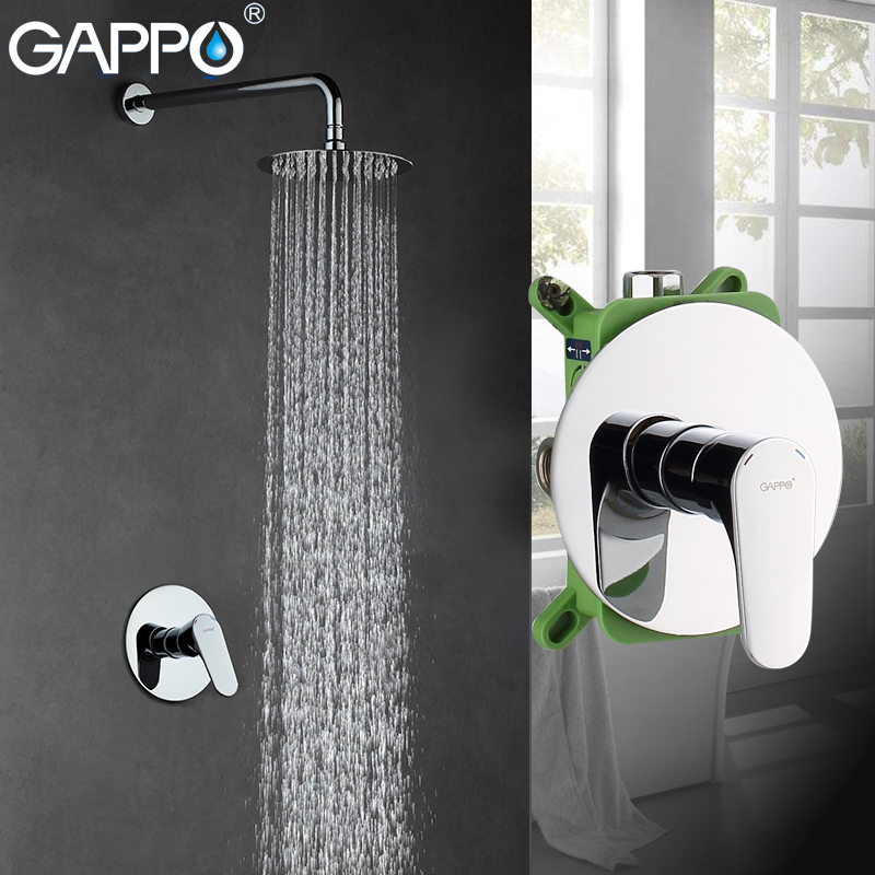 GAPPO Shower Faucet waterfall shower mixer tap rainfall shower faucet shower head in wall bathroom faucet mixer femme платье