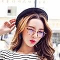 Mulheres Computador Óculos Para Homens Óculos Transparentes Rodada Armação de Óculos Da Moda Oculos de grau Feminino Anti Blue Ray Coating