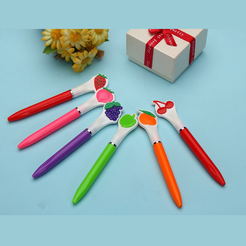 1PCS Creative Fruits Shape Ballpoint Pens Office Stationery Study Supplies Pens for Writing Popular Promotional Gift Pen