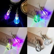 Срочная Ограниченная серия трендовых сережек Brincos Aros для женщин, Забавный яркий светильник сережки-лампочки для дискотеки в ночном клубе