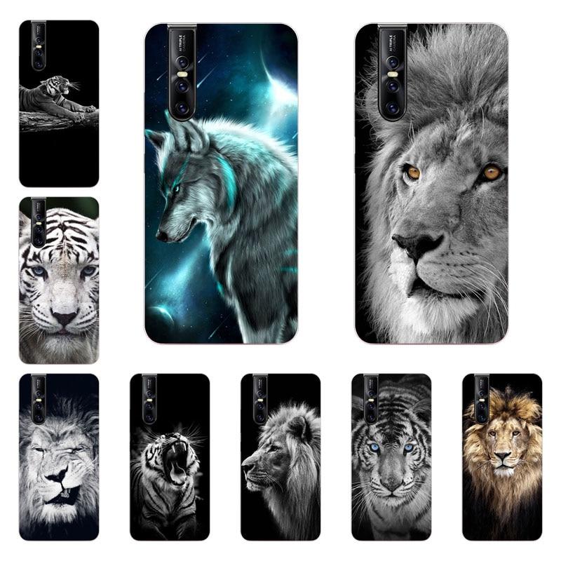 Vivo V15 PRO Case,Silicon Tiger lion Painting Soft TPU Back Cover for Vivo V15 V15 PRO Phone protect Bags shell