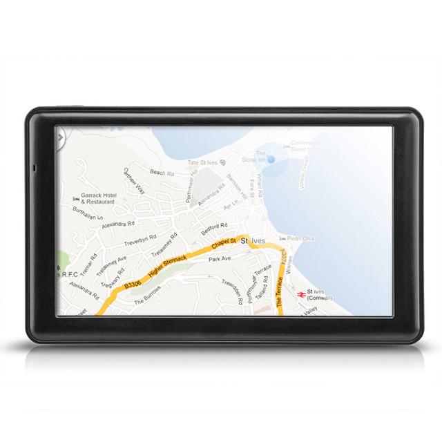 Nuevo Coche de 7 pulgadas de navegación de Pantalla Táctil De Alta Sensibilidad Incorporado Soporte de vídeo de Navegación GPS FM 8 GB + Mapa de Europa de música tk102b