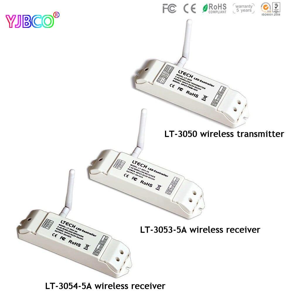 2.4GHz led controller ISM 64channels LT-3050 wireless transmitters/LT-3053-5A/LT-3054-5A wireless receiver for led light,DC5-24V цена
