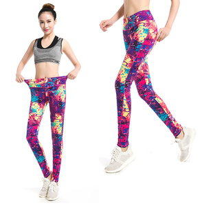 AOEHNG 2020 Fitness Sexy Women Printing Workout anti cellulite leggings Slim legins High Waist leggins Woman лосины Pants