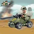Enlighten educativos bloques de construcción de juguetes para los niños regalos militares del ejército del coche compatible con legoe