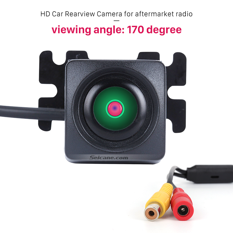 Seicane HD Hidden Mini Car Rearview Camera Backup for Aftermarket Radio 170 Degree Veiw Angle Waterproof Night Vision CCD Sensor