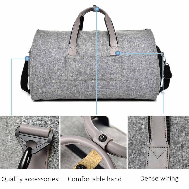 Многофункциональные мужские дорожные сумки, мужская сумка, портативные дорожные сумки для мужчин, Большая вместительная сумка через плечо, рюкзак для костюма