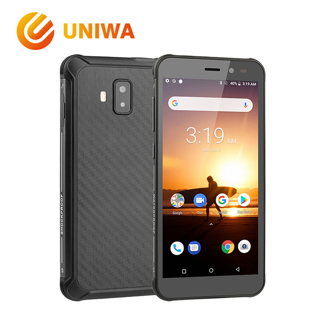 Uniwa F4000 Mobile Phone IP68 Waterproof MTK6739 Quad Core Android Smartphone Dual SIM GSM WCDMA LTE 4G Rugged Outdoor Cellphone