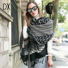 Luxury Brand Scarf Pashmina Echarp Cashmere Wrap Shawl Winter Scarf Ladies Scarves Tassels Long Blanket  Bandana Face Shield