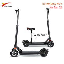 JS Electric scooter with seat 8 inch Two Wheel kick scooter Adult motor Scooter Electric Skateboard Hover Board Electric Unisex kick scooter with disc brake for adults teens handbrake scooter push folding scooter 8 inch wheels perfect for urban city