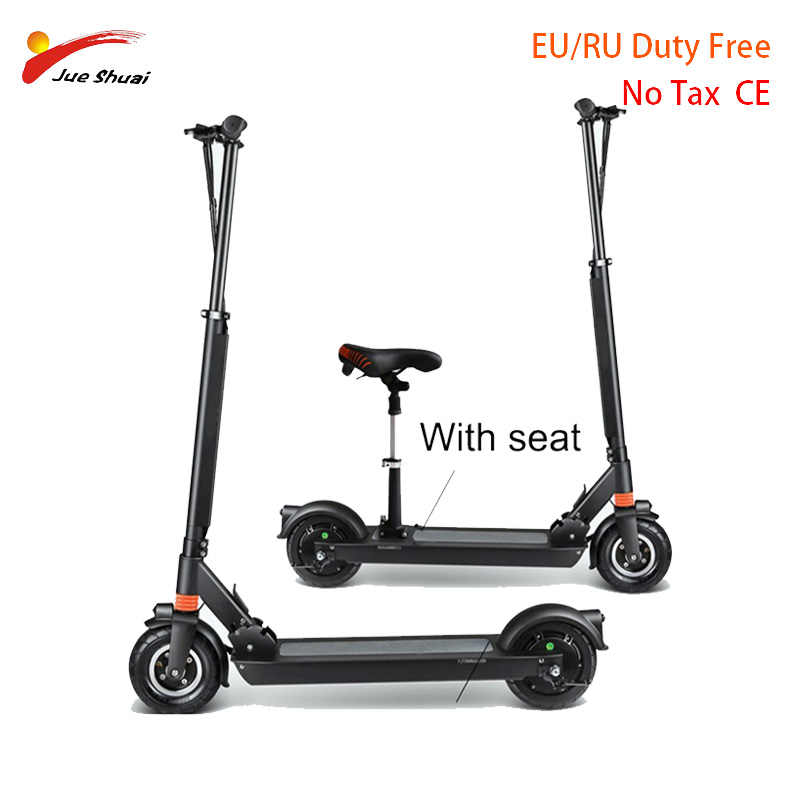 Electric Motor Scooter >> Js Electric Scooter With Seat 8 Inch Two Wheel Kick Scooter Adult Motor Scooter Electric Skateboard Hover Board Electric Unisex