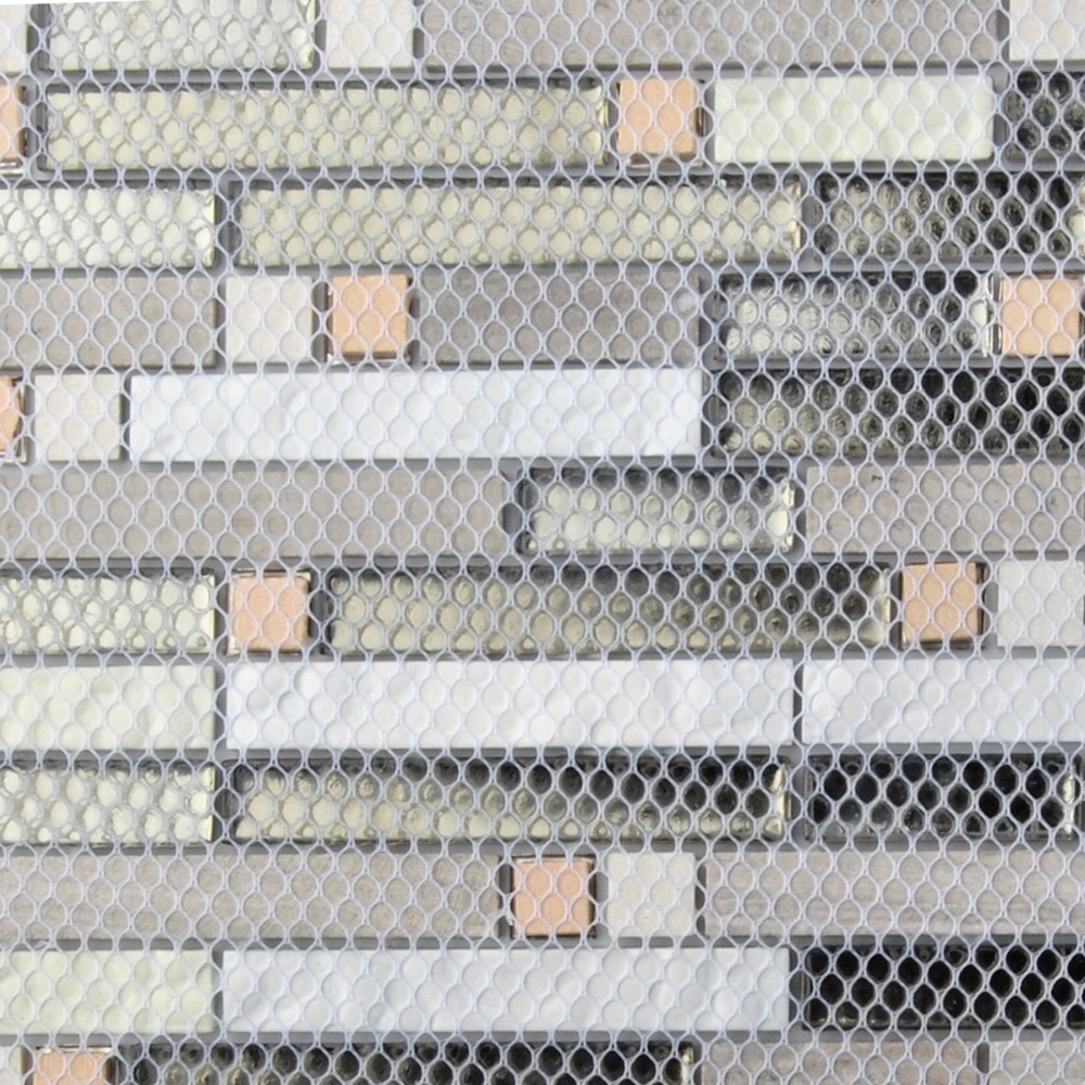 Kitchen Backsplash Tile Gray Marble Silver Glass Mosaic Wholesale 1 ...