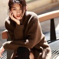 IRINAW914 Новое поступление осень 2018 повседневное короткое негабаритное длинное yakwool свитер кардиганы для женщин