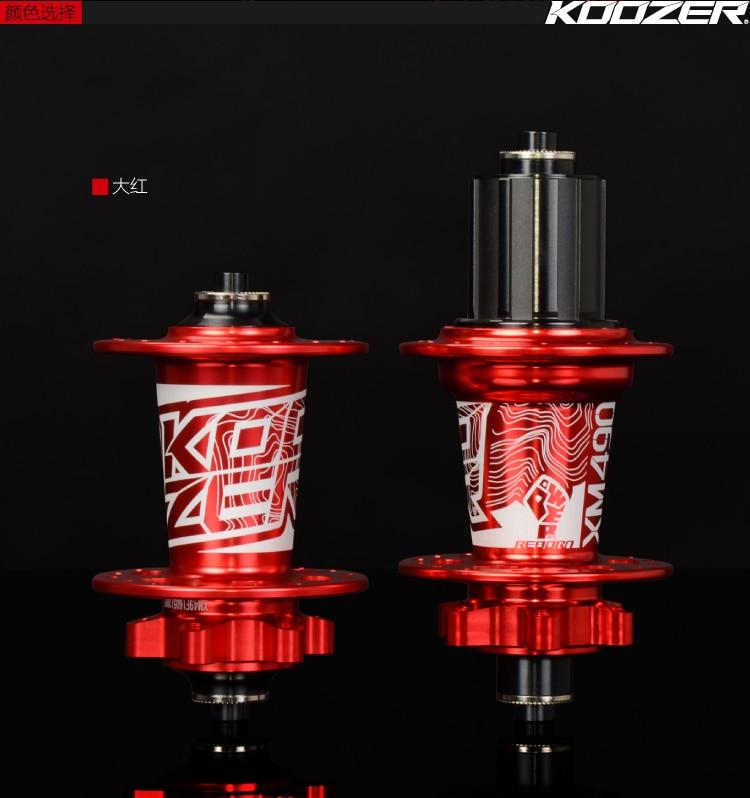 купить KOOZER XM490 CNC Aluminum Mountain Bike Hub set 2/4 Bearings MTB 32Holes with QR Bicycle Hub/ F15mm R12X142mm недорого