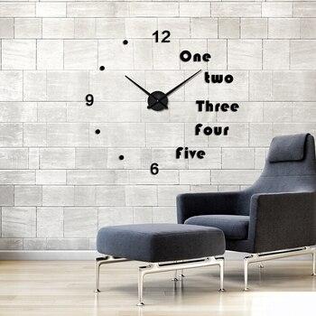 2016 새로운 가정 장식 지중해 diy 시계 크리 에이 티브 홈 장식 벽시계 맞춤형 디지털 골드 실버 블랙