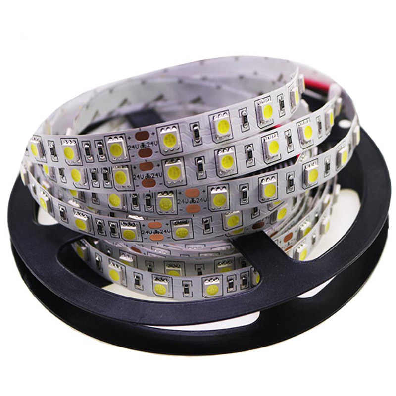 1Roll 5M 5050 LED Lampu Strip Tape DC 12V RGB RGBW Rgbww Holiday Dekorasi Lampu LED String pita 60 LED/M Tahan Air