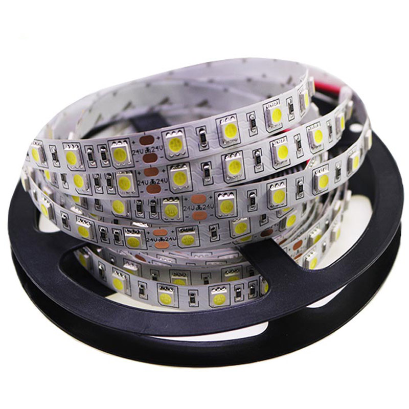 1Roll 5M 5050 LED Strip Light Tape DC 12V RGB RGBW RGBWW Holiday Decoration Lamp LED String Ribbon 60LEDs/M Waterproof