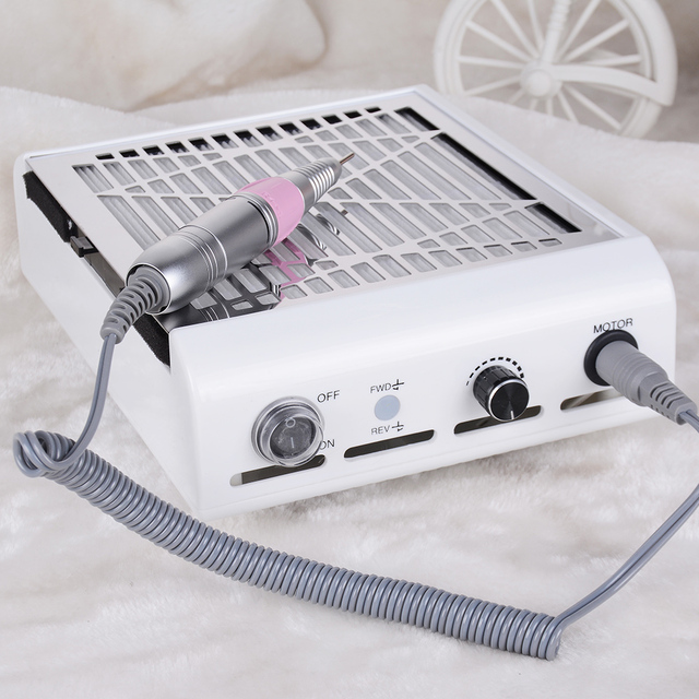 NAIL ART 2 in 1 30000rpm Nail Drill 45W Strong Nail Dust Collector Vacuum Cleaner Nails Art Tool Manicure Pedicure Machine