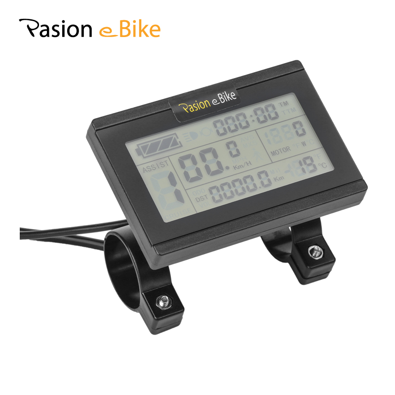 PASION E BIKE Control Panel Lcd Bike 36V 24V 48V Electric Bike LCD Display Electric Bicycle Computer Parts For Sondors USA supernova sale or04f1 36v lcd display panel system en15194 approved e bike electric bike