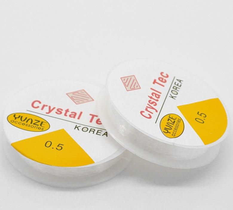 Nylon bijoux fil cordon Transparent 0.5mm, 1 rouleau nouveauNylon bijoux fil cordon Transparent 0.5mm, 1 rouleau nouveau