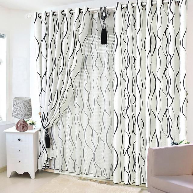 spcial noir et blanc rideaux brown stripe voilages rideaux pour chambre salon - Rideaux Pour Salon Noir Blanc