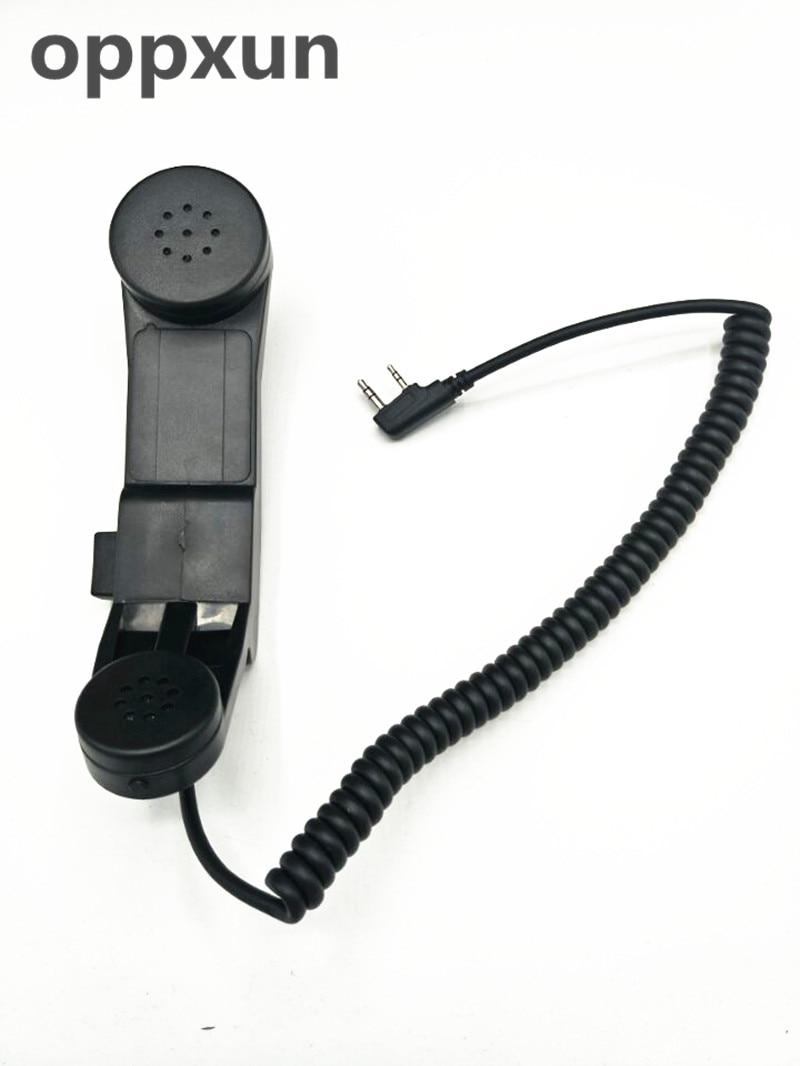 Galleria fotografica OPPXUN Mic Speaker Vendita Calda 2 PIN Portatile Speaker Mic per <font><b>KENWOOD</b></font> H555 per PUXING PX777 Retevis BAOFENG UV5R Radio